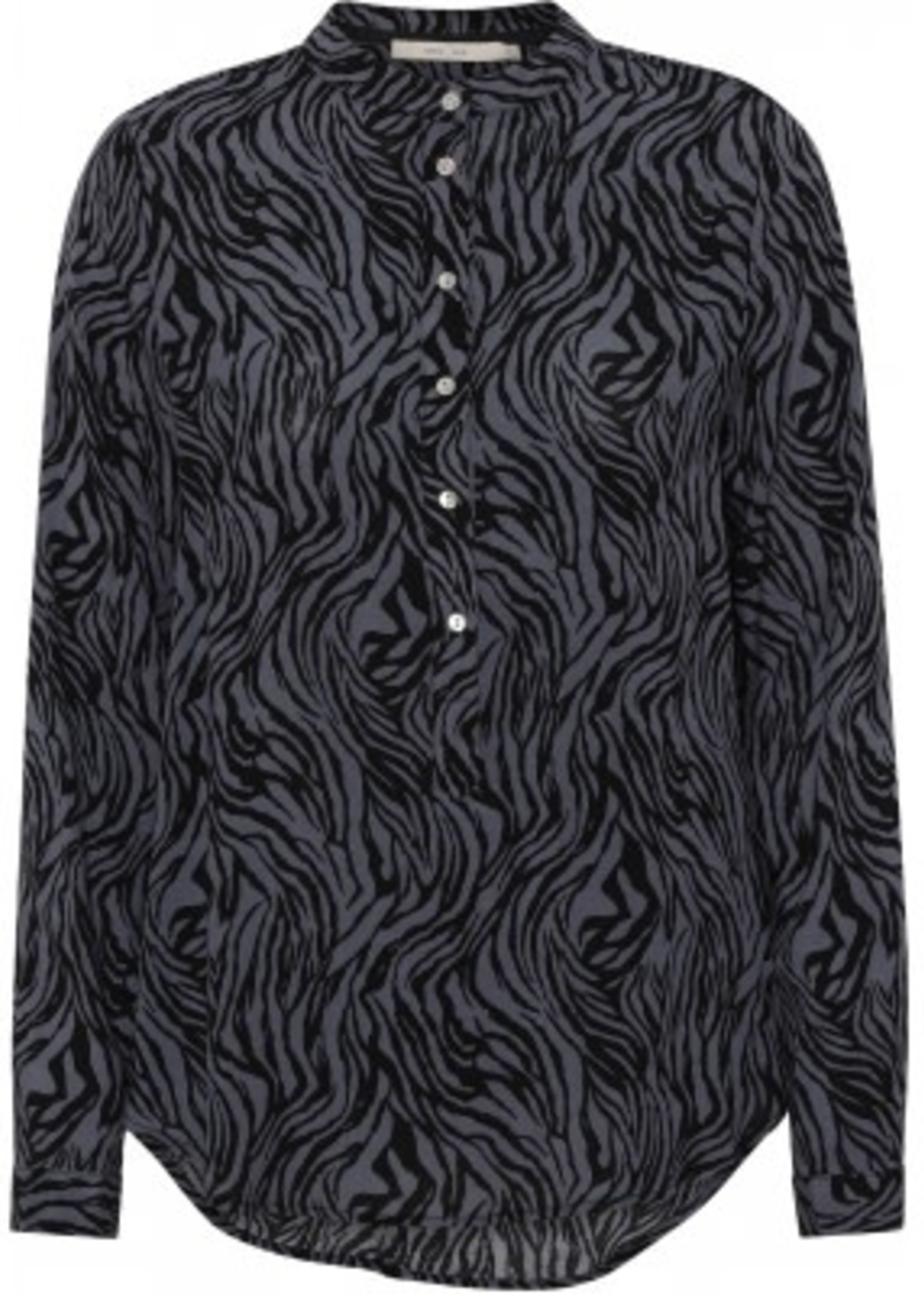 COSTAMANI blouse Lexis grey zebra laatste maat s