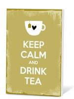 Theekaart Keep Calm and drink tea