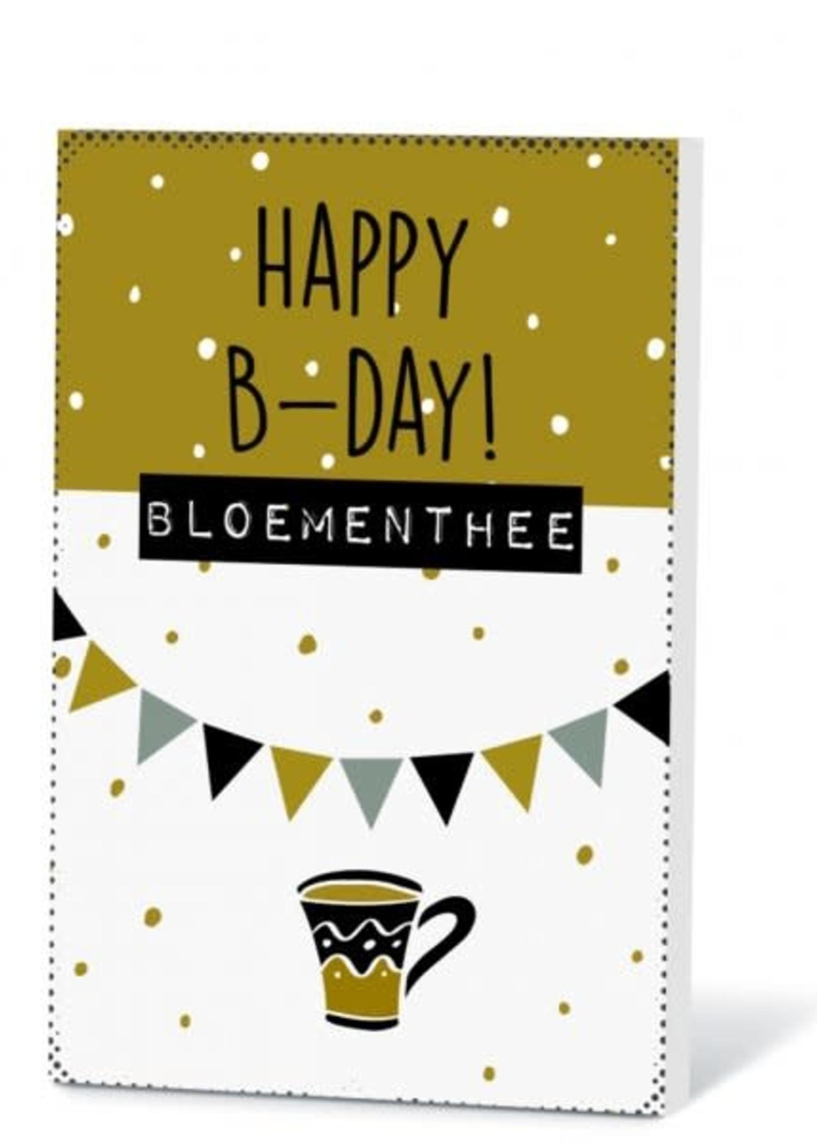 Theekaart Happy B-day