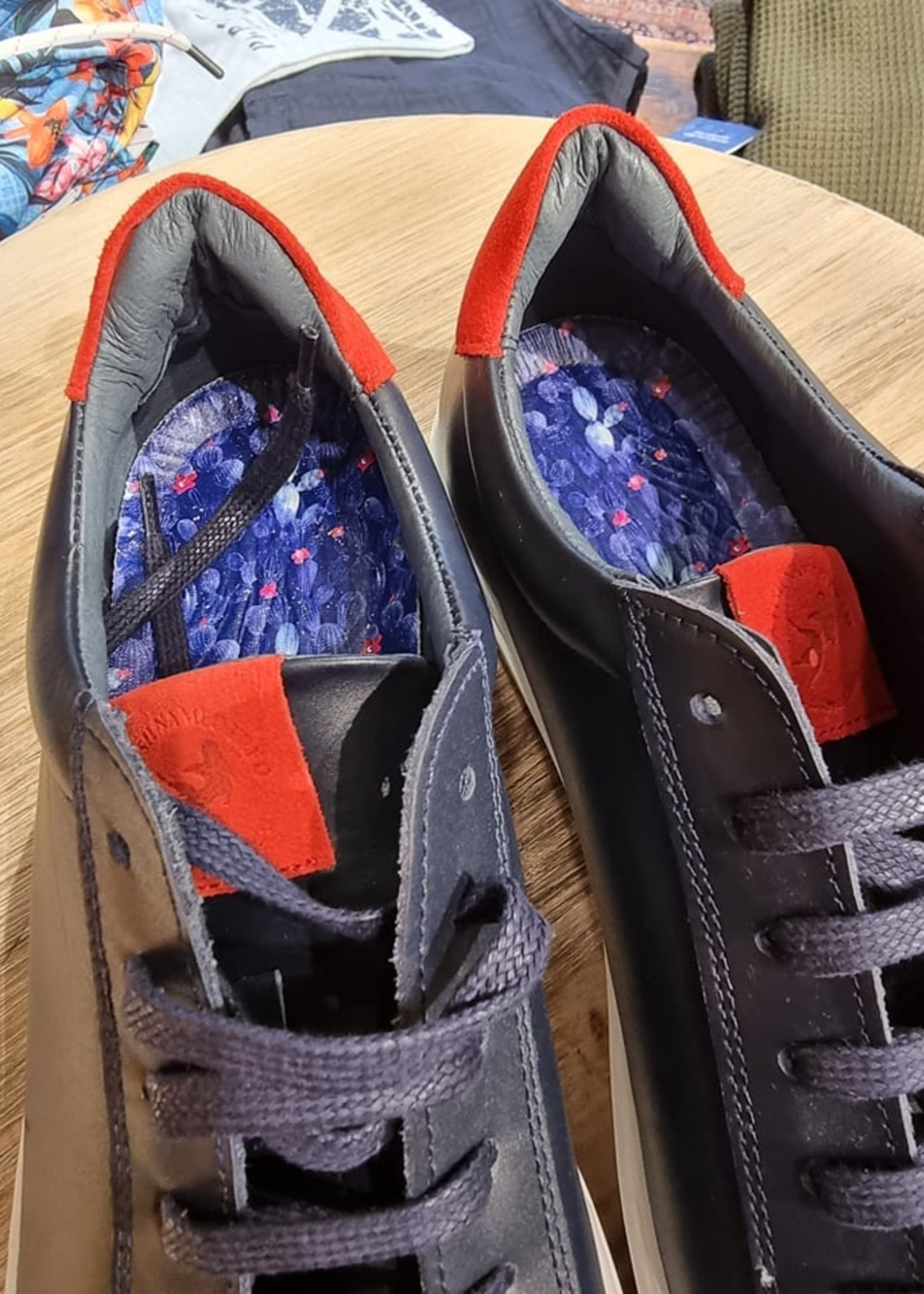 A Fish Named Fred sneaker Navy-Red
