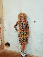 MOOI VROLIJK Dress zipper Feathers 21230
