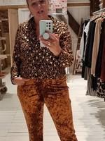 MOOI VROLIJK Trouser chic camel steam velvet