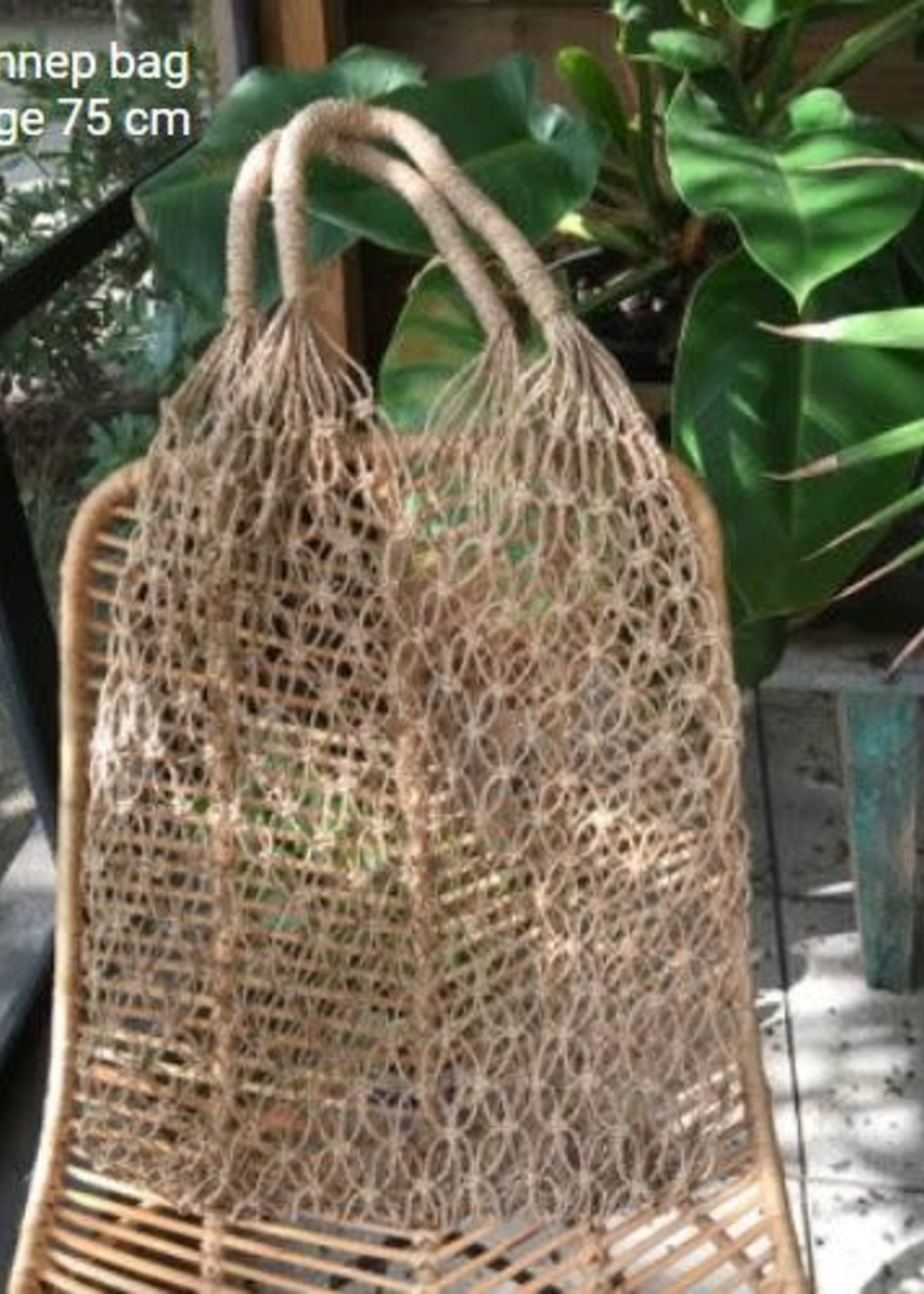 handgemaakte tas van hennep