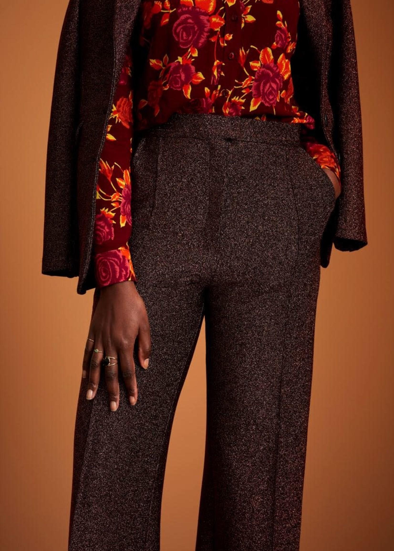 KING LOUIE Ethel pintuck pant bronze brown