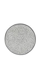 BASTION COLLECTIONS Cake plate 16cm white/little dots in black