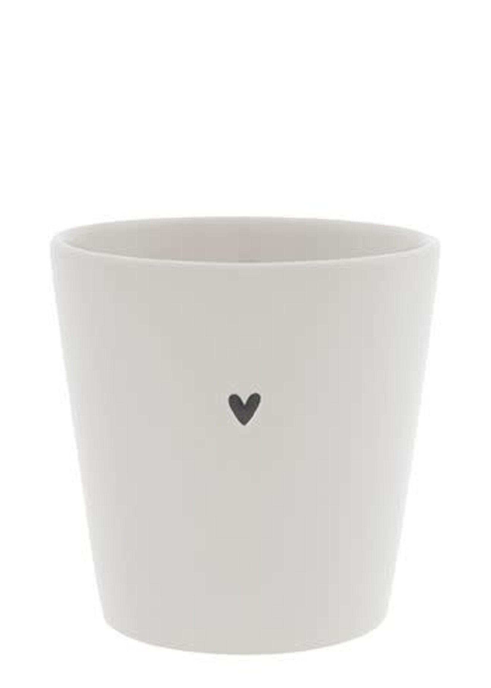 BASTION COLLECTIONS Cup white / heart 9x9x7,5