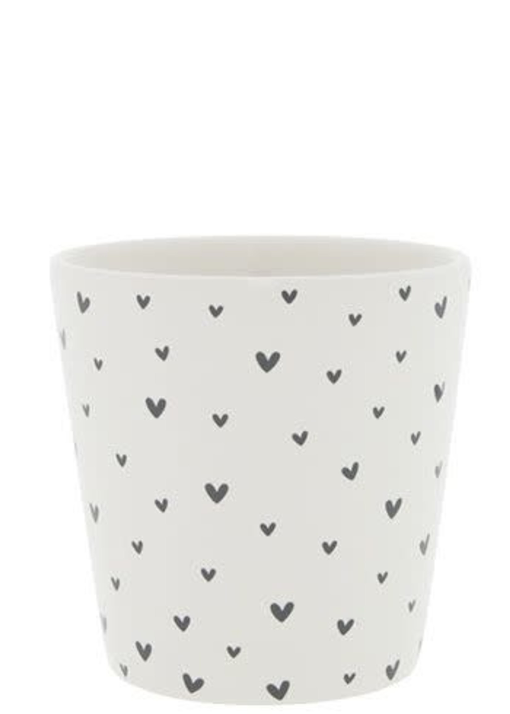 BASTION COLLECTIONS Cup white / little hearts 9x9x7,5