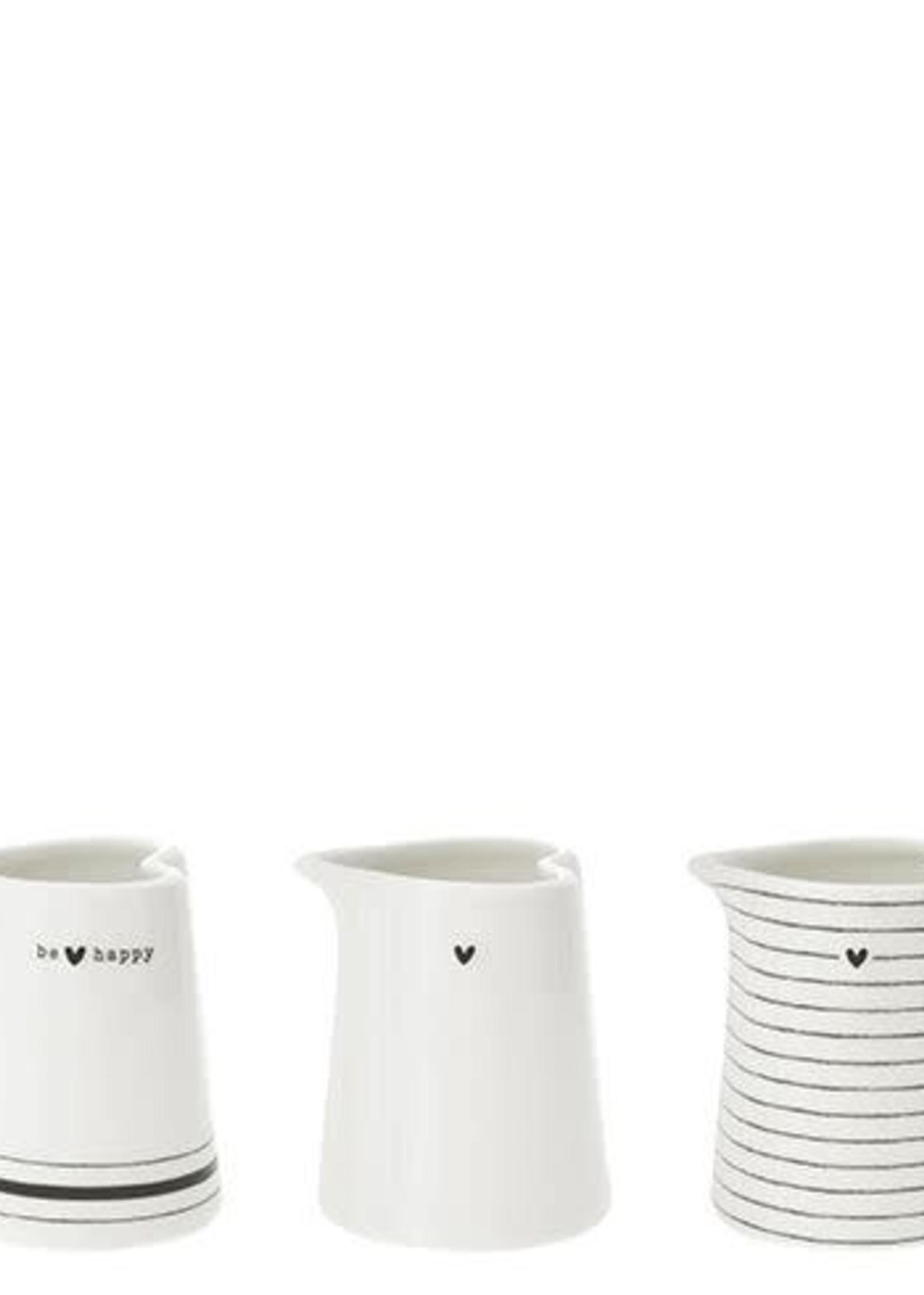 BASTION COLLECTIONS Jug XS stripes, heart of be happy