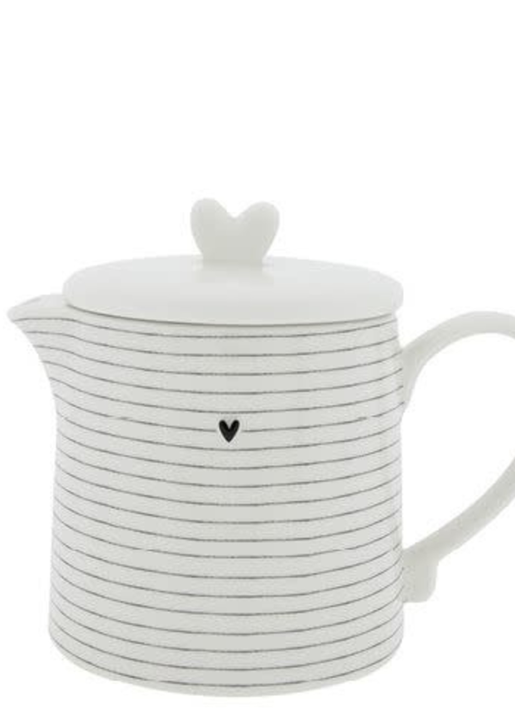 BASTION COLLECTIONS Teapot white w stripes