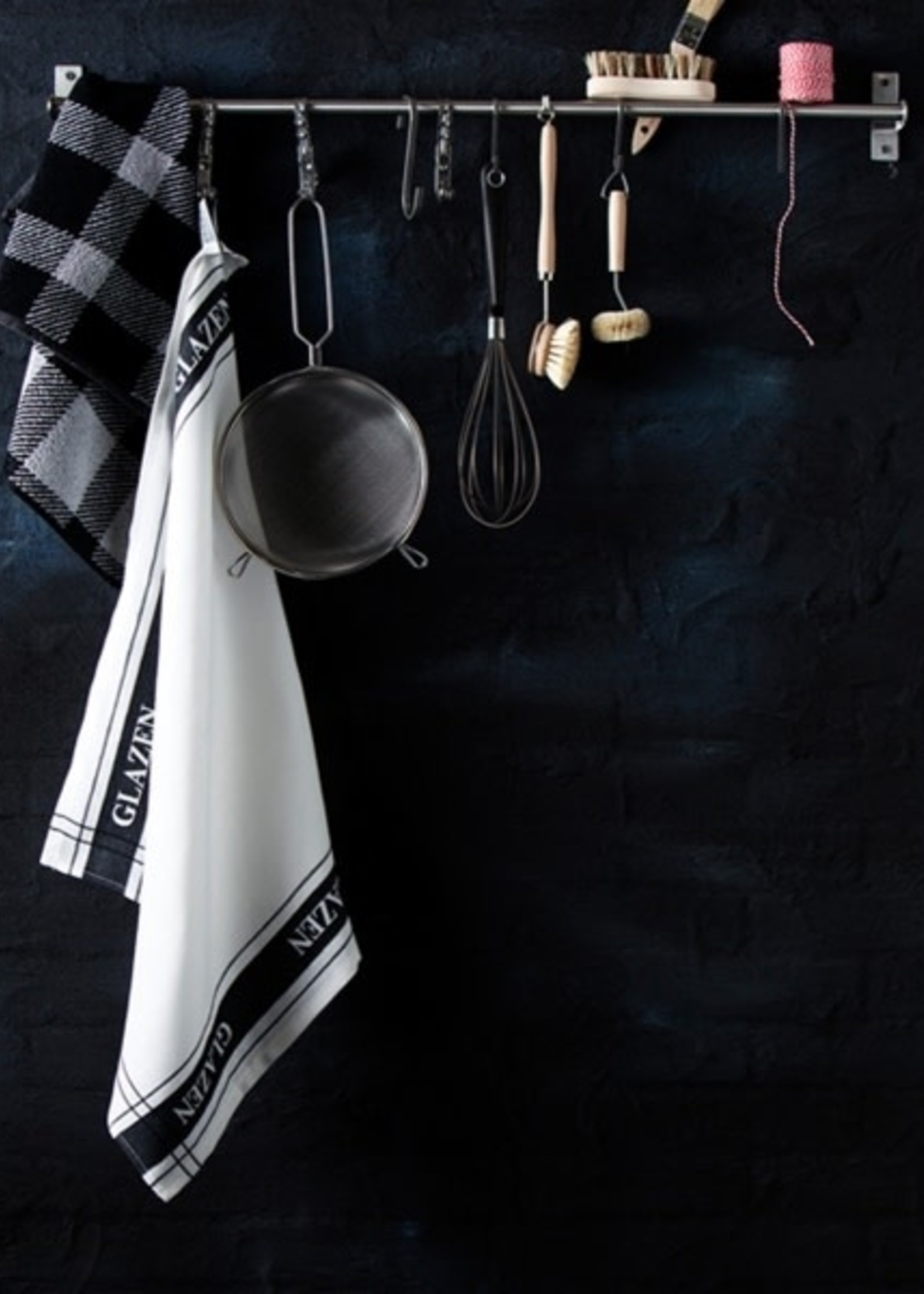 Glazendoek zwart wit