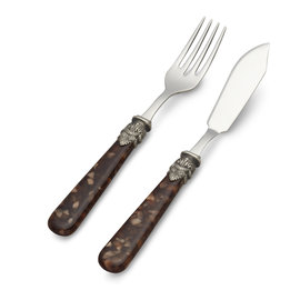 EME Napoleon Fish Cutlery Set Turtle Brown