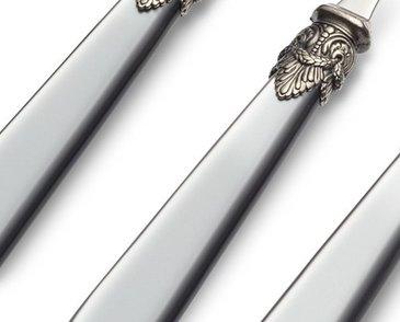 Gray cutlery
