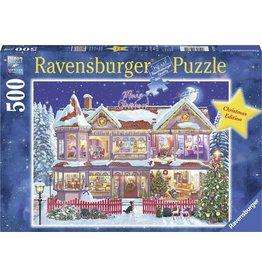 RAVENSBURGER Ravensburger kerstpuzzel Het Kersthuis - legpuzzel - 500 stukjes