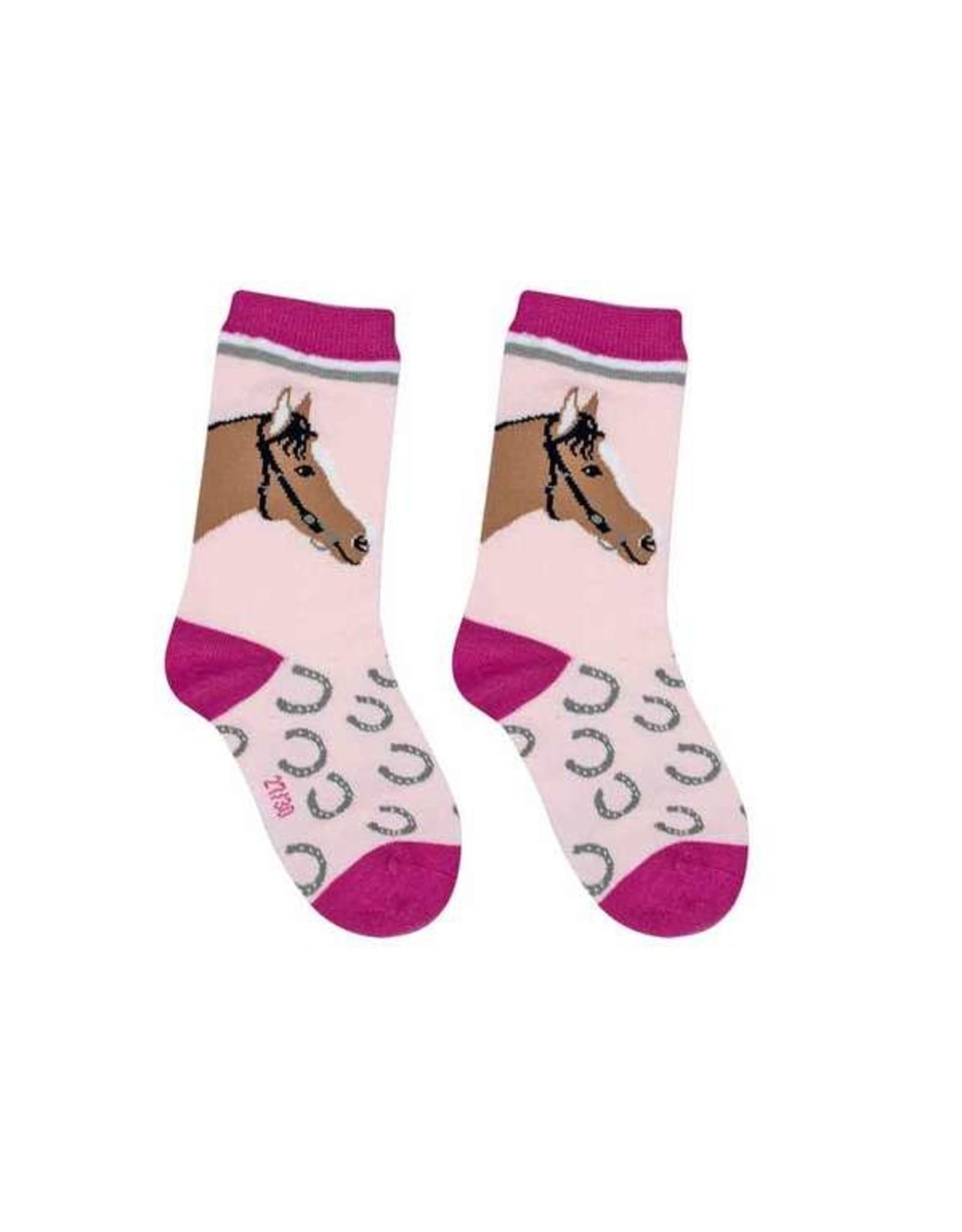 BB BB Sweety Socks Paard roos 27/30