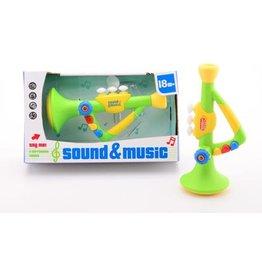 JOHNTOYS SOUND N MUSIC TROMPET MET LICHT EN GELUID