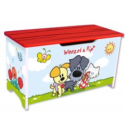 Babolino Houten speelgoedkist Woezel & Pip vriendjes