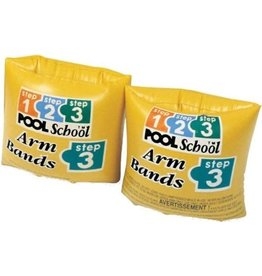 INTEX ROLL-UP ARM BANDS POOL SCHOOL STEP 3. Ages 3-6. Peg Box