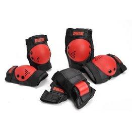 ACTIVE SPORT Sportline Beschermset 3 delig Medium - zwart / rood