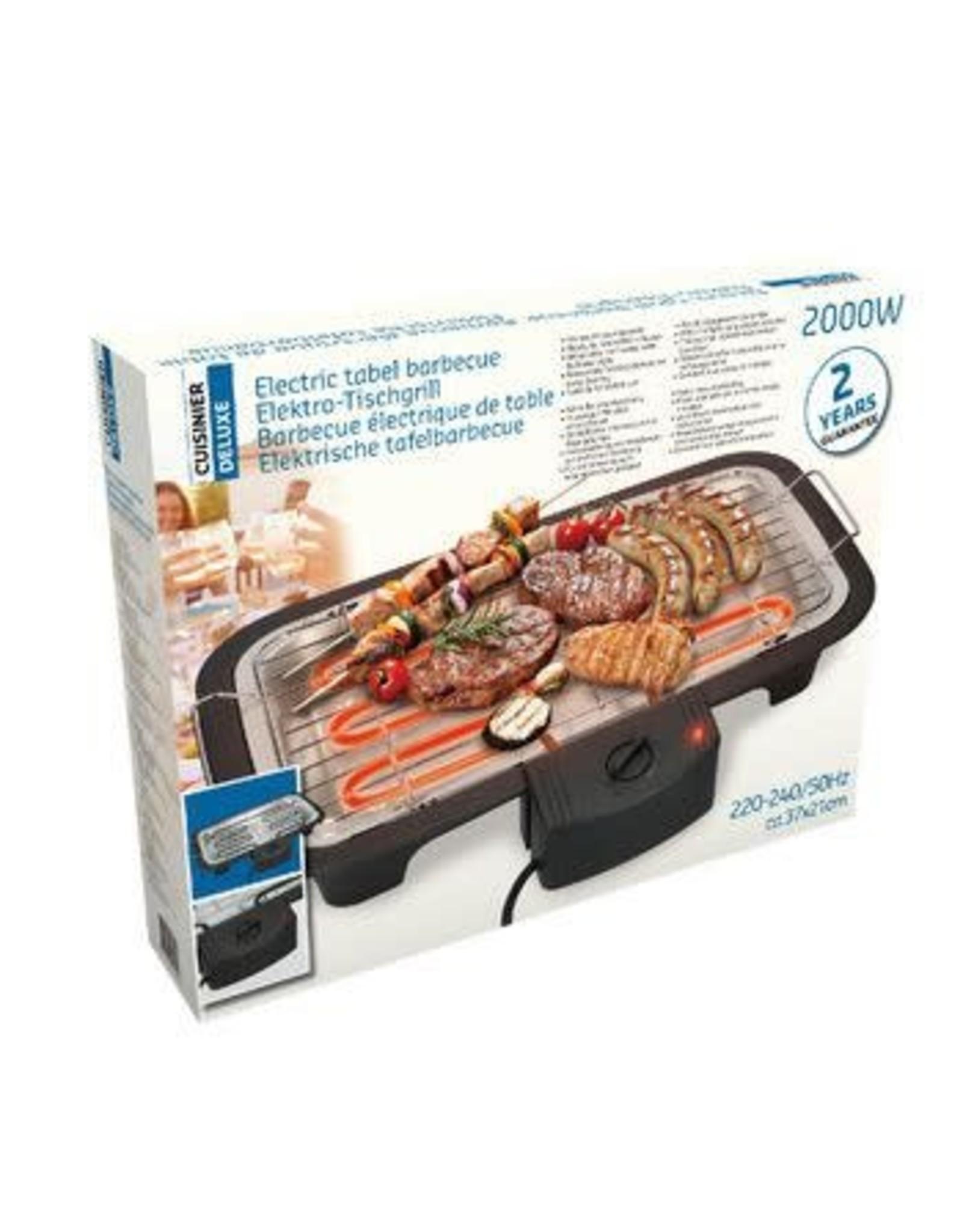 CUISINE Cuisine Deluxe Elektrische Tafelbarbecue - 2000w
