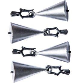 WICOTEX Tafelkleedhangers zilveren kegels set a 4