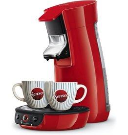 PHILIPS Philips Senseo Viva Café HD6563/88 - Koffiepadapparaat met kopjes - Rood