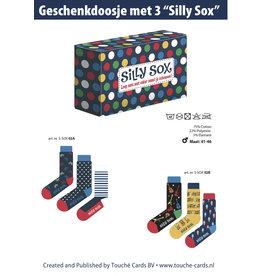 TOUCHE Silly Sox in een geschenkbox 41-46