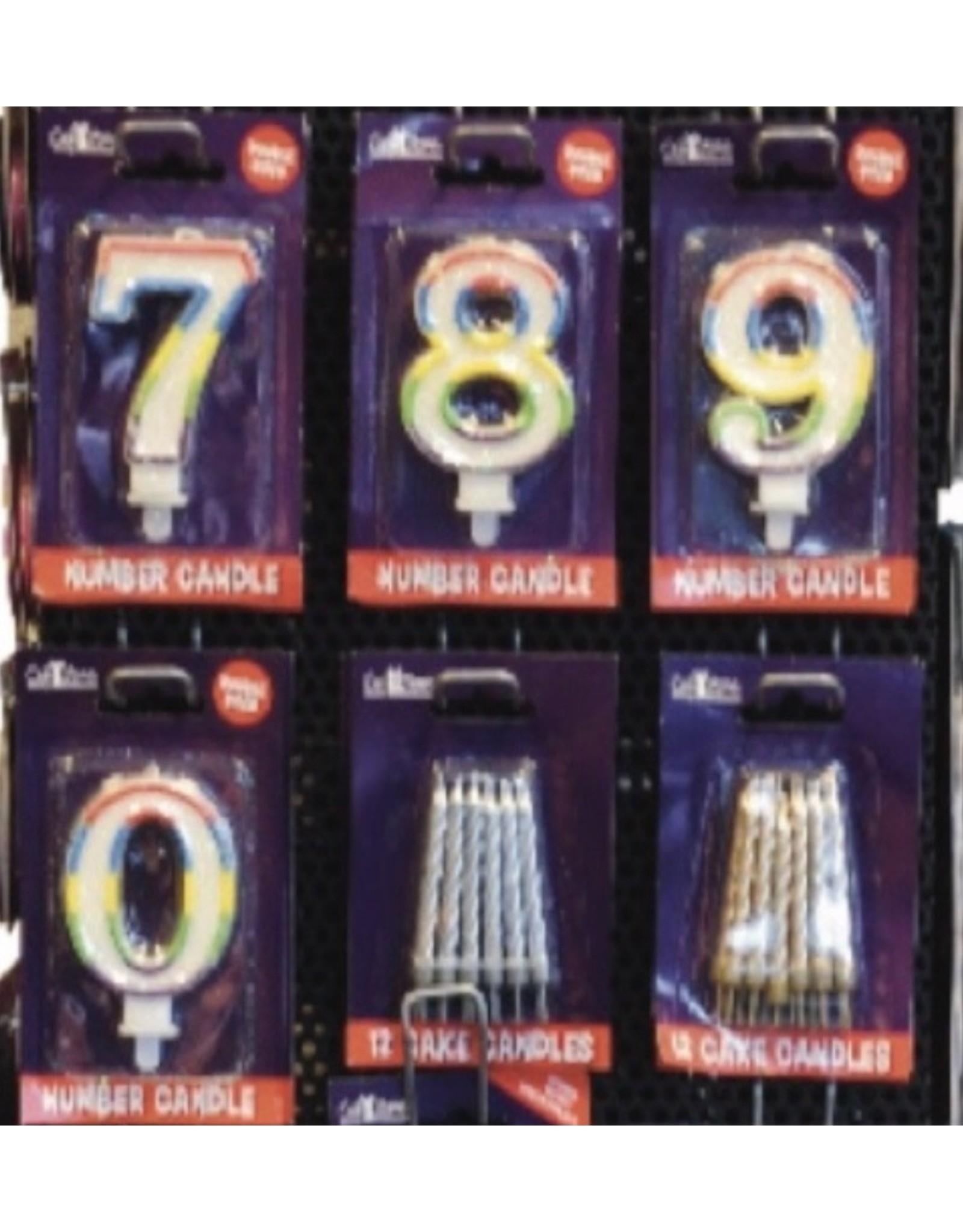 TOUCHE Blauw Verjaardag Kaarsjes voor op de Taart -12 stuks