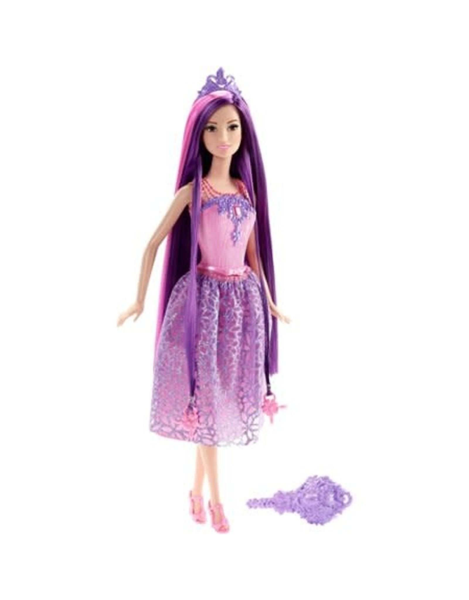 Barbie Bijzonder Lang Haar - Prinses Paars - Barbi