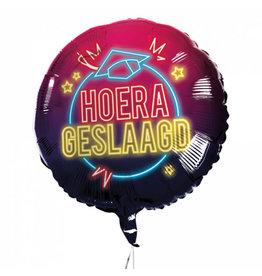 BOLAND Boland ballon Hoera Geslaagd 45 cm folie zwart