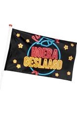 BOLAND Boland Vlag Hoera Geslaagd 90 X 150 Cm Polyester Zwart