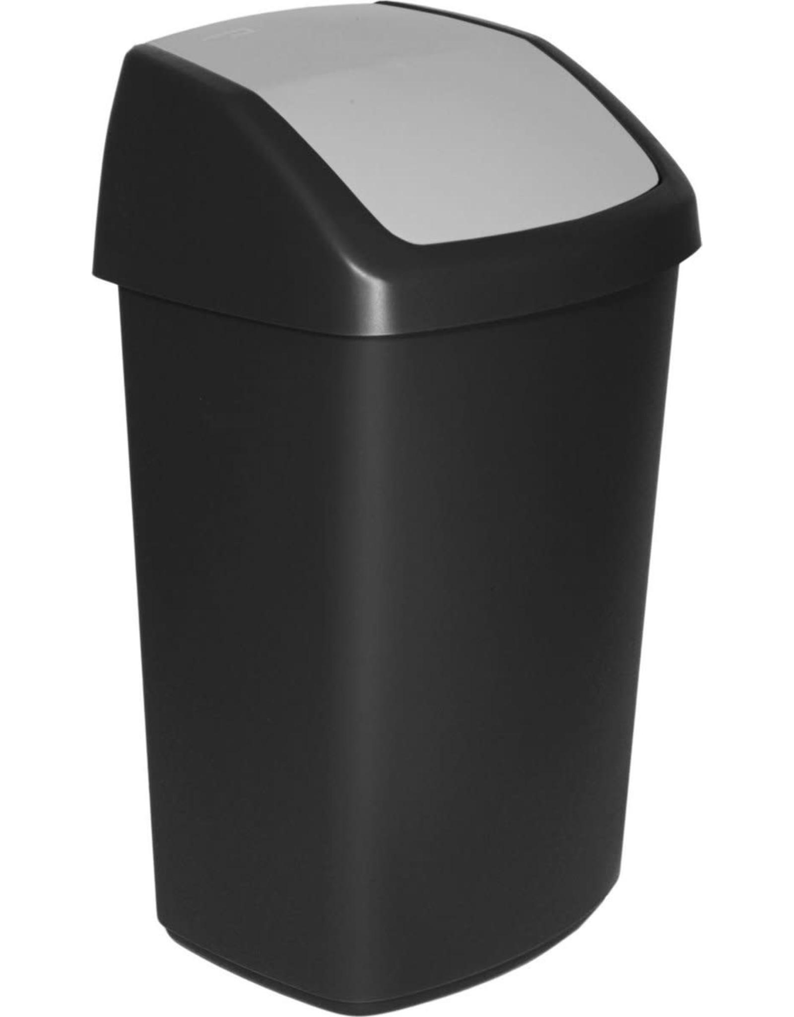 CURVER Curver afvalbak Swing 50L zwart/grijs