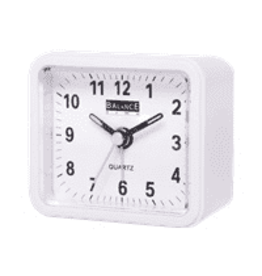 BALANCE Balance Alarm Clock Analogue White
