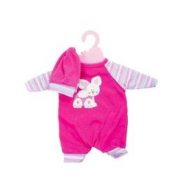 JOHNTOYS Baby Rose poppenkleding op hanger 40-45cm pop