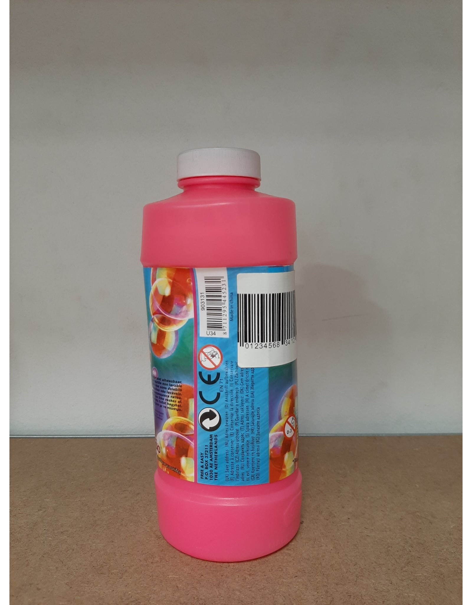 Bellenblaas fles - Super Color Bubbles 0,5 L