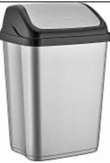 MERKLOOS Afvalbak 10l grijs/ zwart