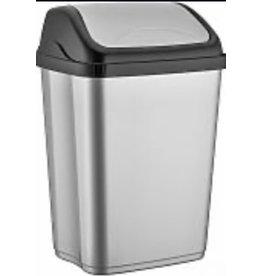 MERKLOOS Afvalbak /pedaalemmer 10l grijs/ zwart