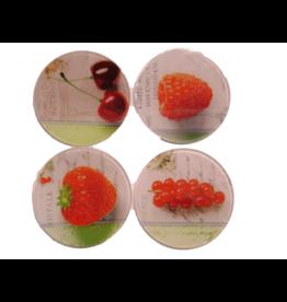 MERKLOOS Glas onderzetters fruit