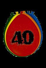 BALONNEN 40 JAAR 8 STUKS 30CM