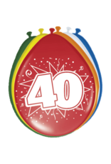 FOLAT BALONNEN 40 JAAR 8 STUKS 30CM