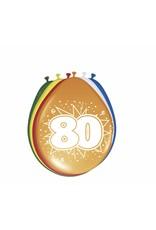 FOLAT Ballonnen 80 jaar - 8 stuks