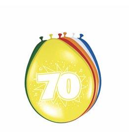 Ballonnen 70 jaar 8 stuks