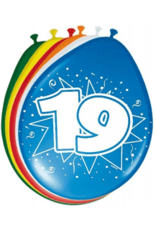 19 jaar ballonnen 8 stuks