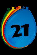 BALONNEN 21 JAAR 8 STUKS 30CM