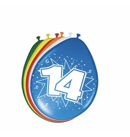 14 jaar ballonnen 8 stuks