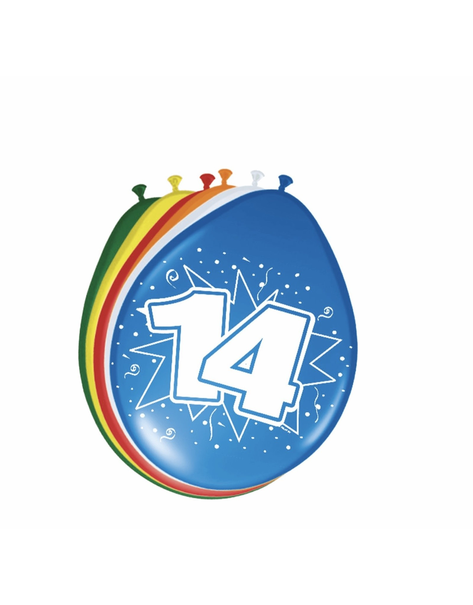 FOLAT 14 jaar ballonnen 8 stuks