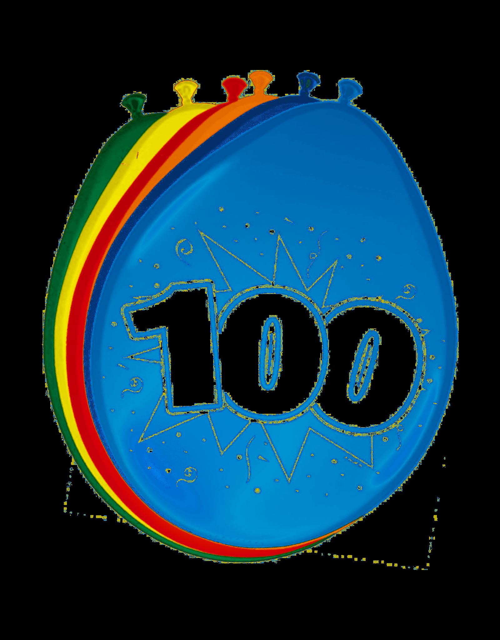 Ballonnen 100 Jaar 8 stuks