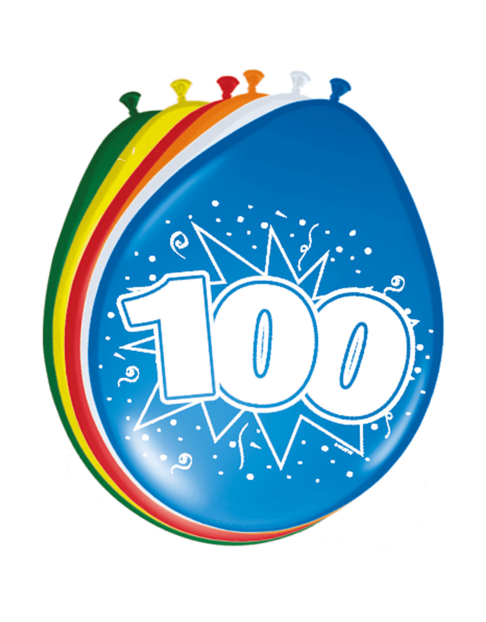 FOLAT Ballonnen 100 Jaar 8 stuks
