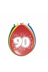 FOLAT Ballonnen 90 jaar 8 stuks