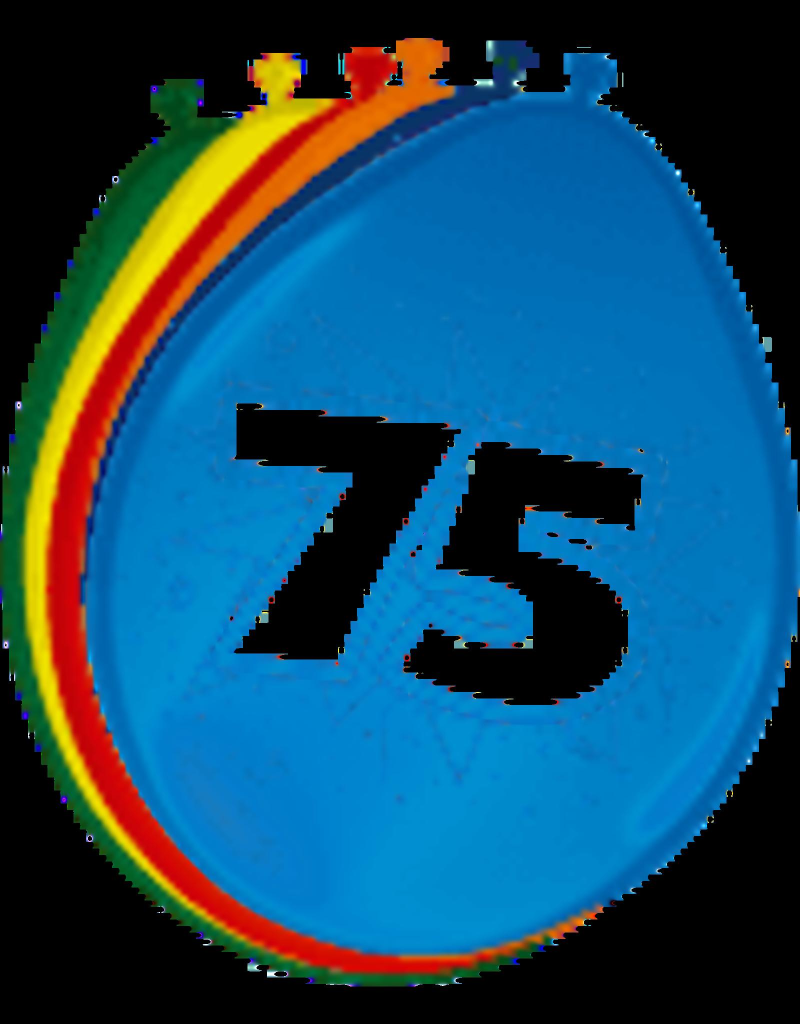 FOLAT Ballon 30cm 8st 75 jaar
