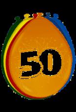 FOLAT BALONNEN 50 JAAR 8 STUKS 30CM